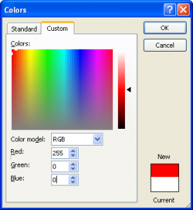 Colors excel 2003 RGB