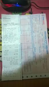 Hóa đơn tiền điện EVN 2015