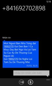 Tổng đài lừa đảo qua tin nhắn SMS